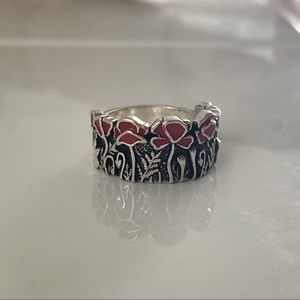❤️ Synthetic Stones Plated Ring ~jewelry